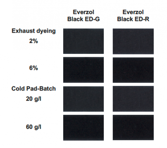 Everzol Black ED-G & Black ED-R Dyes - Special Black Shade | Everlight Colorants